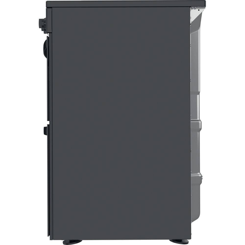 Indesit Double Cooker ID67V9KMB/UK Black B Back / Lateral