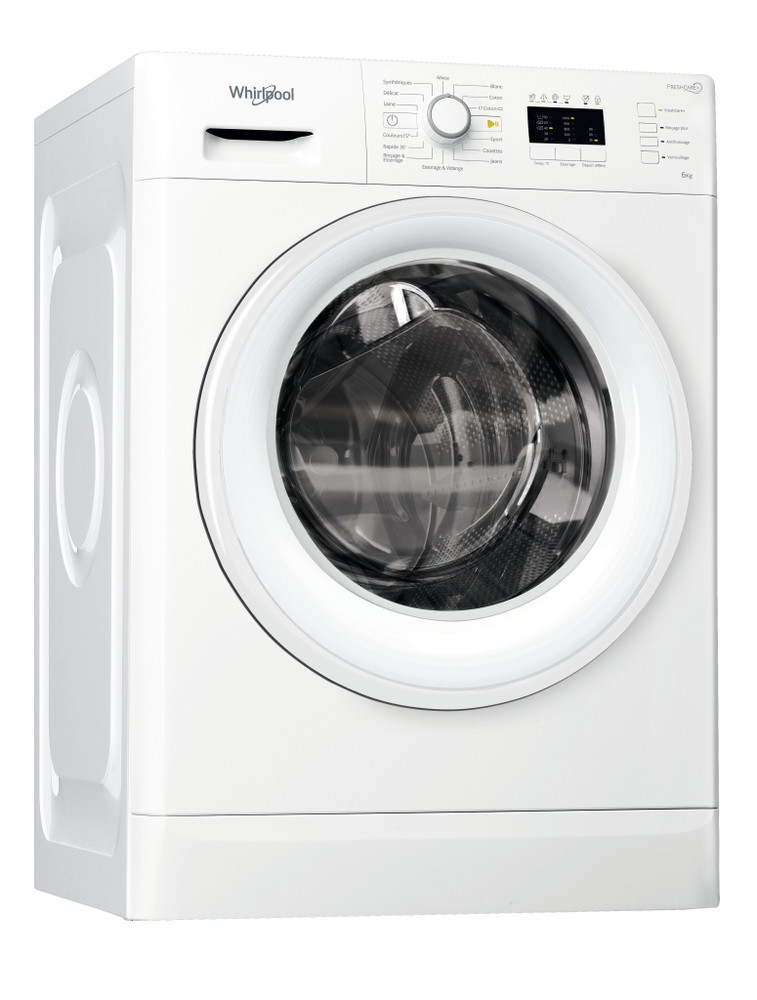 Whirlpool Lave-linge Pose-libre FWL61052W NA Blanc Front loader A++ Perspective