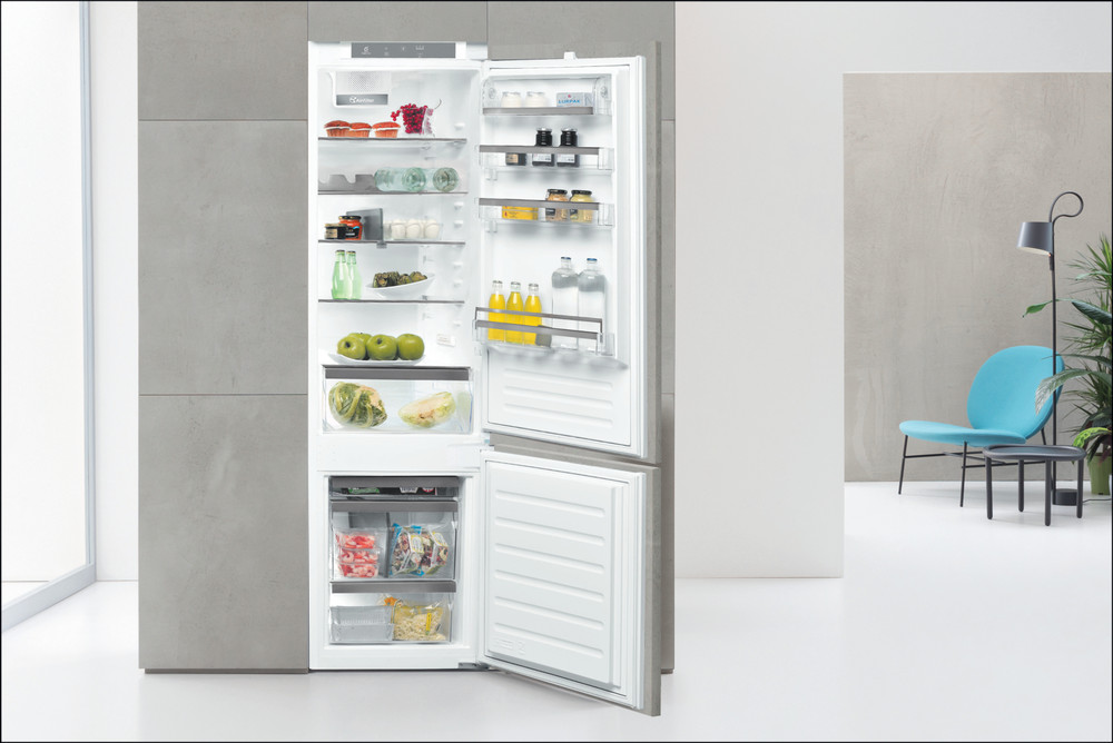 Whirlpool Fridge/freezer combination Built-in ART 9811/A++ SF Inox 2 doors Lifestyle frontal open