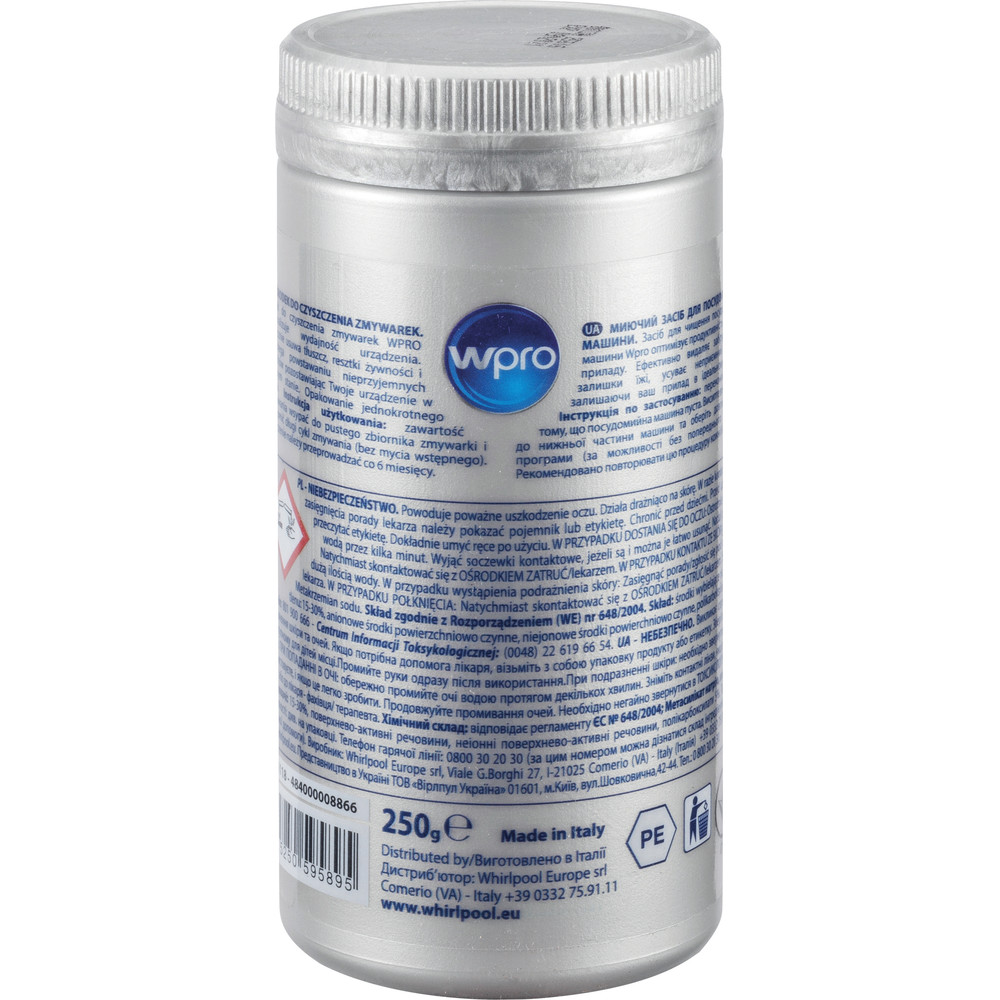 Засіб Wpro  DDG118 для видалення жиру  у посудомийних машинах