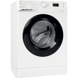 Indsit Maşină de spălat rufe Independent MTWSA 61252 WK EE Alb Încărcare frontală F Perspective
