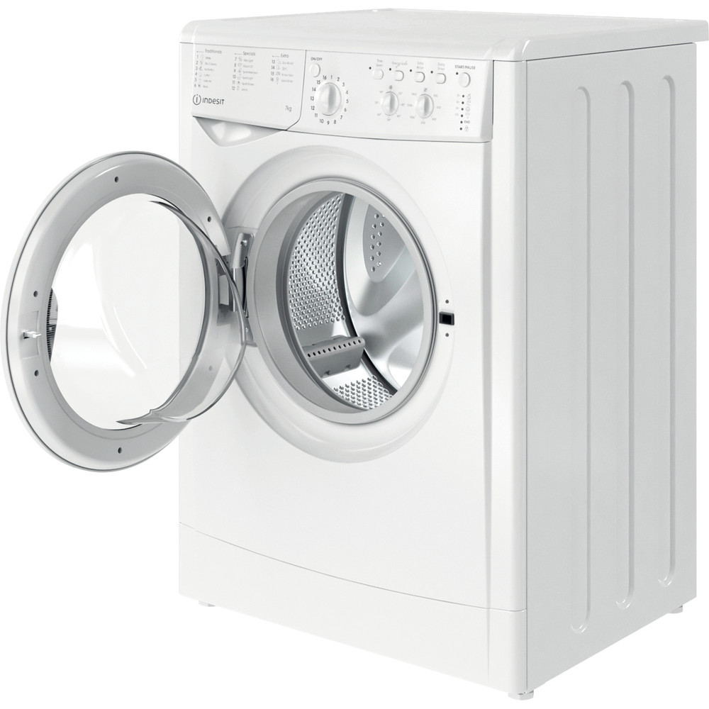 Indesit Washing machine Free-standing IWC 71452 W UK N White Front loader E Perspective open