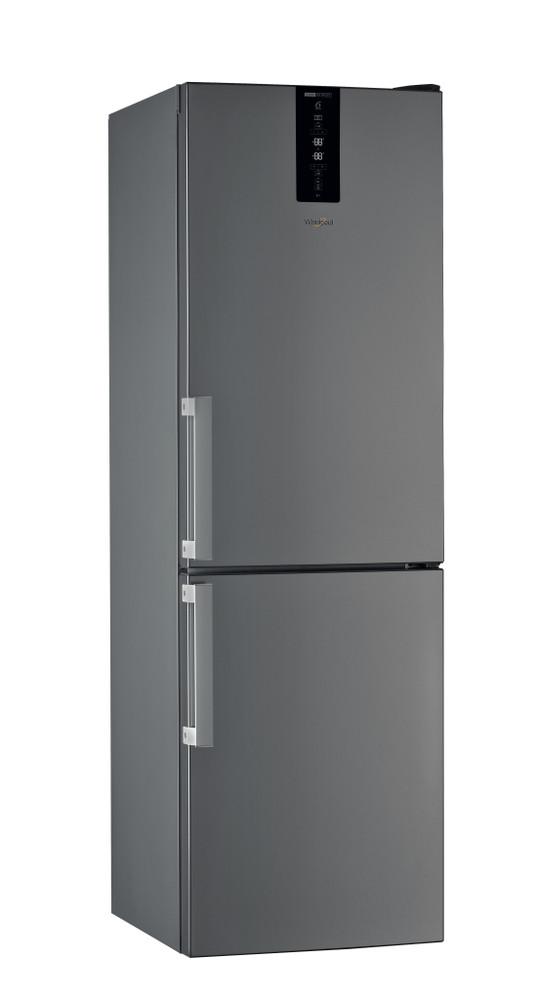 Whirlpool Jääkaappipakastin Vapaasti sijoitettava W7 831T OX H Optinen Inox-harmaa 2 doors Perspective