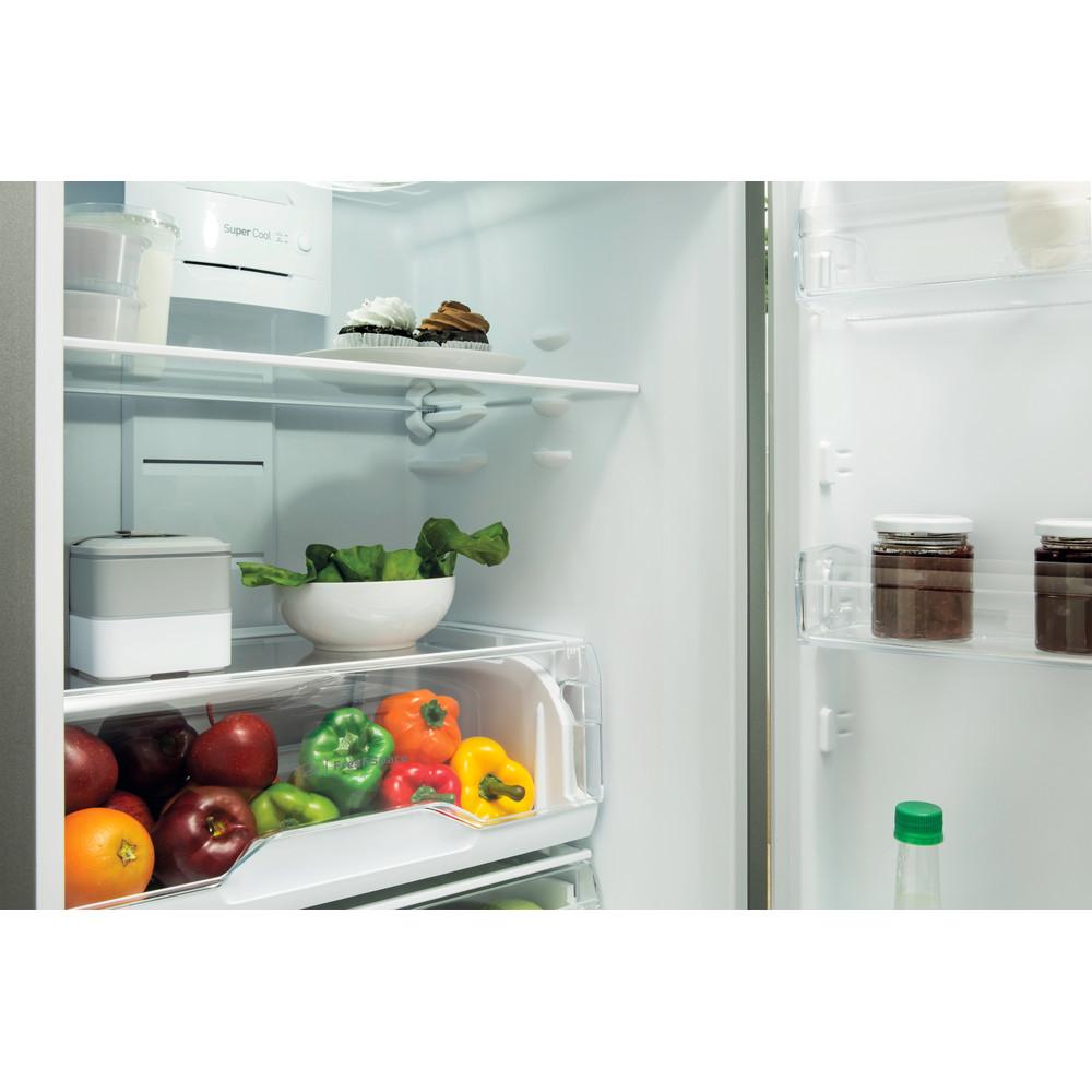 Indesit Combinación de frigorífico / congelador Libre instalación TIAA 10 V SI.1 Plata 2 doors Drawer