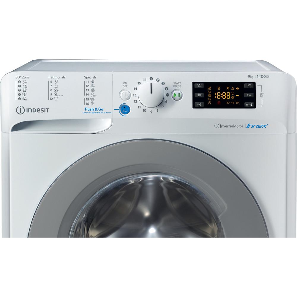 Indesit Pračka Volně stojící BWE 91484X WS EU N Bílá Front loader C Control panel