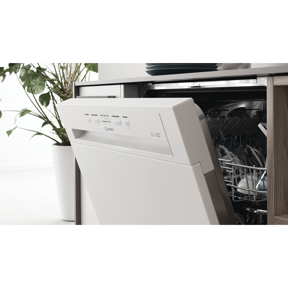 Indesit Dishwasher Built-in DBE 2B19 UK Half-integrated F Lifestyle control panel