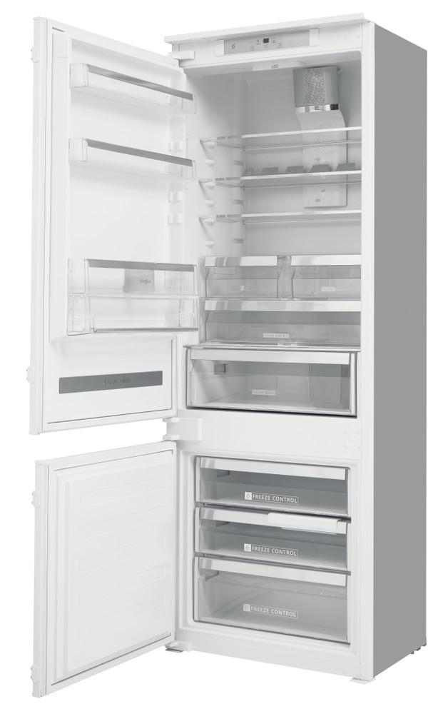 Whirlpool Hűtő/fagyasztó kombináció Beépíthető SP40 802 EU 2 Fehér 2 doors Perspective open
