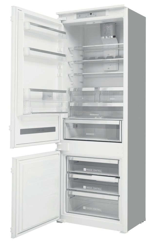 Whirlpool Fridge/freezer combination Ugradna SP40 802 EU Bela 2 vrata Perspective open