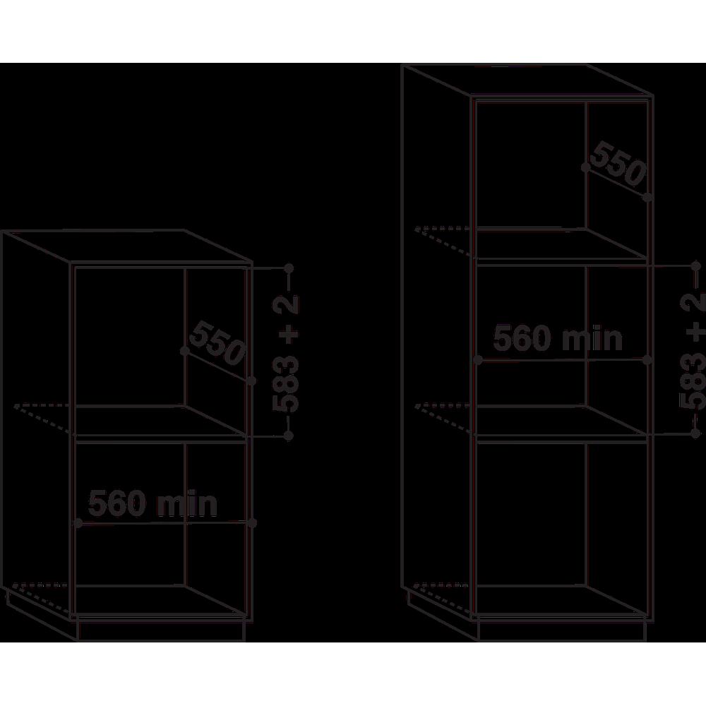 Whirlpool inbyggnadsugn: färg vit, självrengörande - AKZM 8060/WH