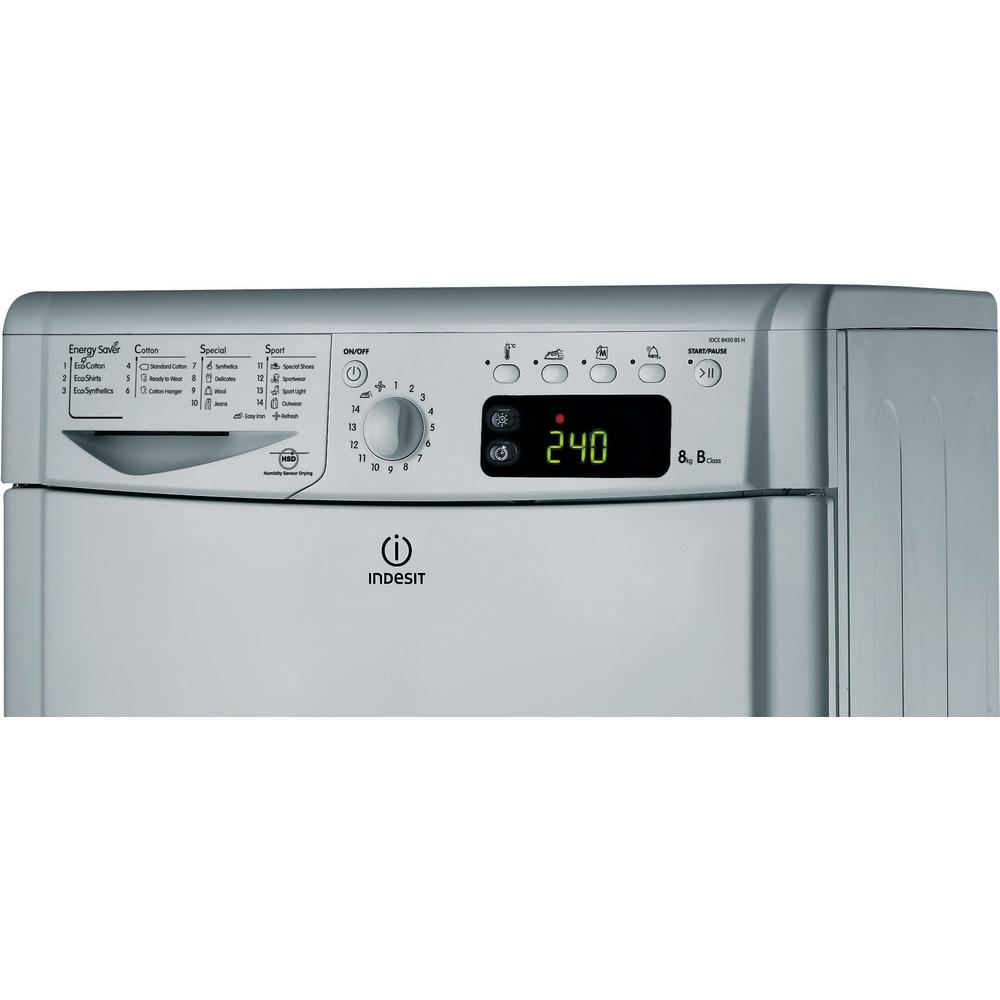 Indesit Dryer IDCE 8450 BS H (UK) Silver Control panel