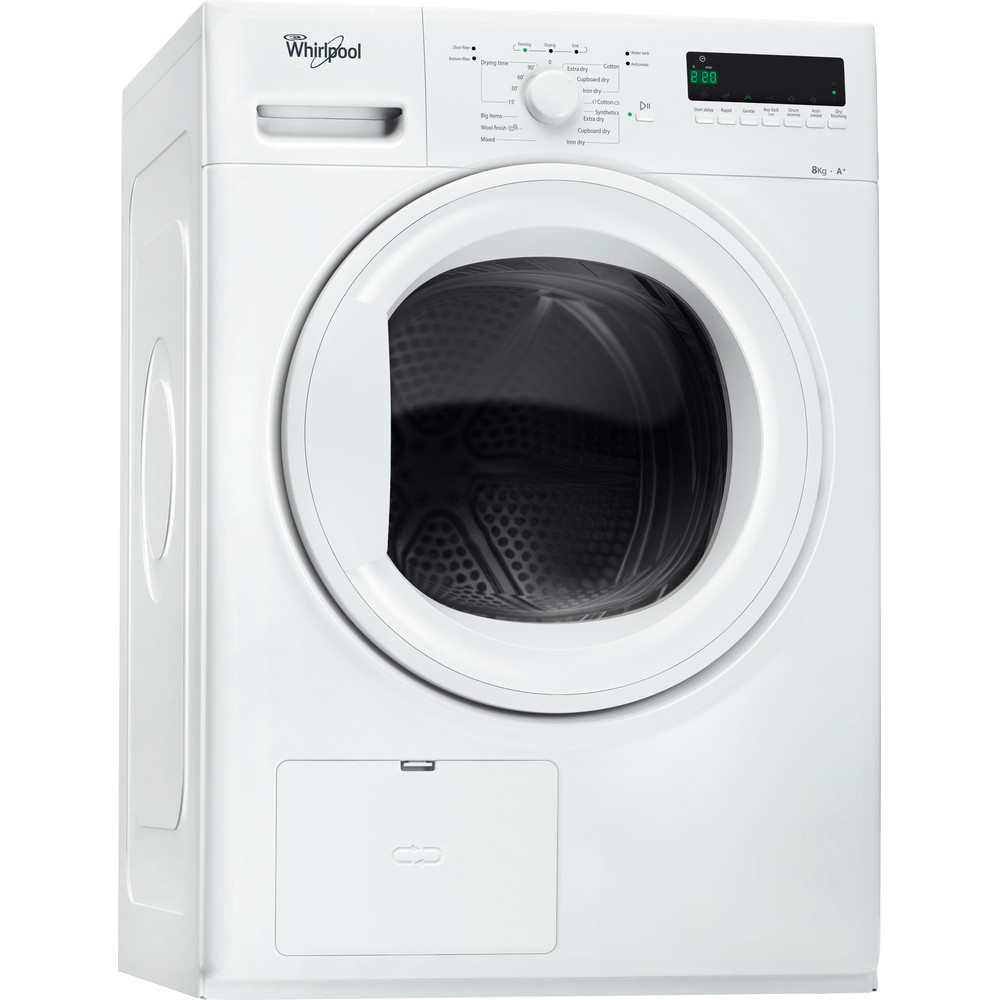 Whirlpool värmepumpstumlare: fristående, 8 kg - HDLX 80312