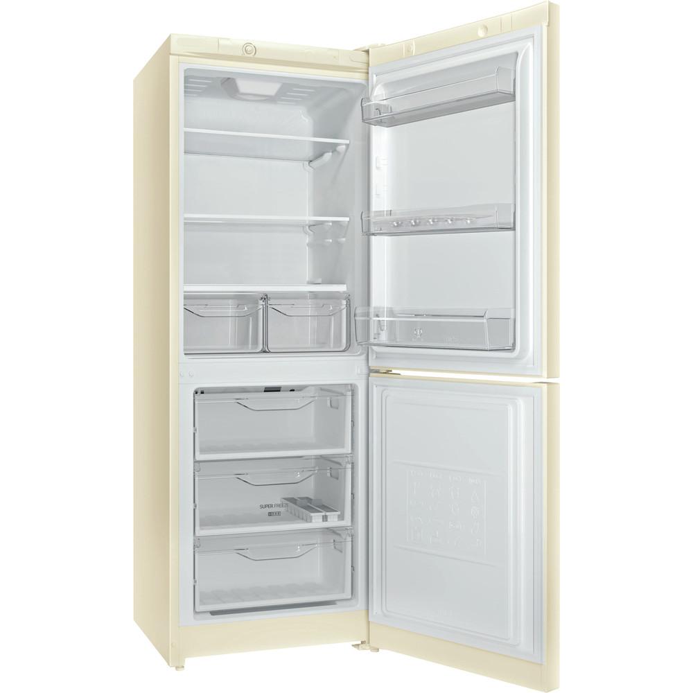 Indesit Холодильник с морозильной камерой Отдельностоящий DS 4160 E Розово-белый 2 doors Perspective open