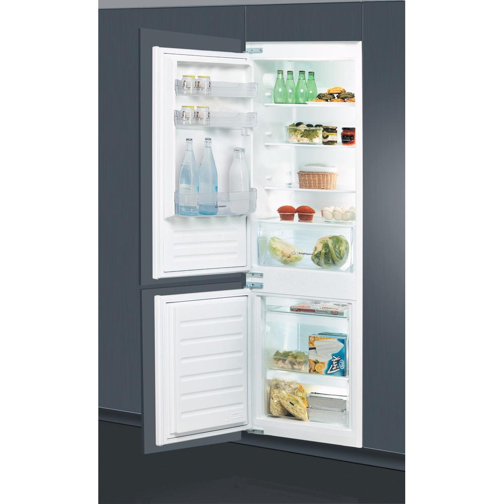 Indesit Combinazione Frigorifero/Congelatore Da incasso B 18 A1 D S/I MC 1 Bianco 2 porte Lifestyle perspective open