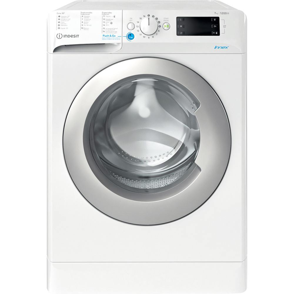 Indesit Máquina de lavar roupa Livre Instalação BWE 71252X WS SPT N Branco Carga Frontal E Frontal