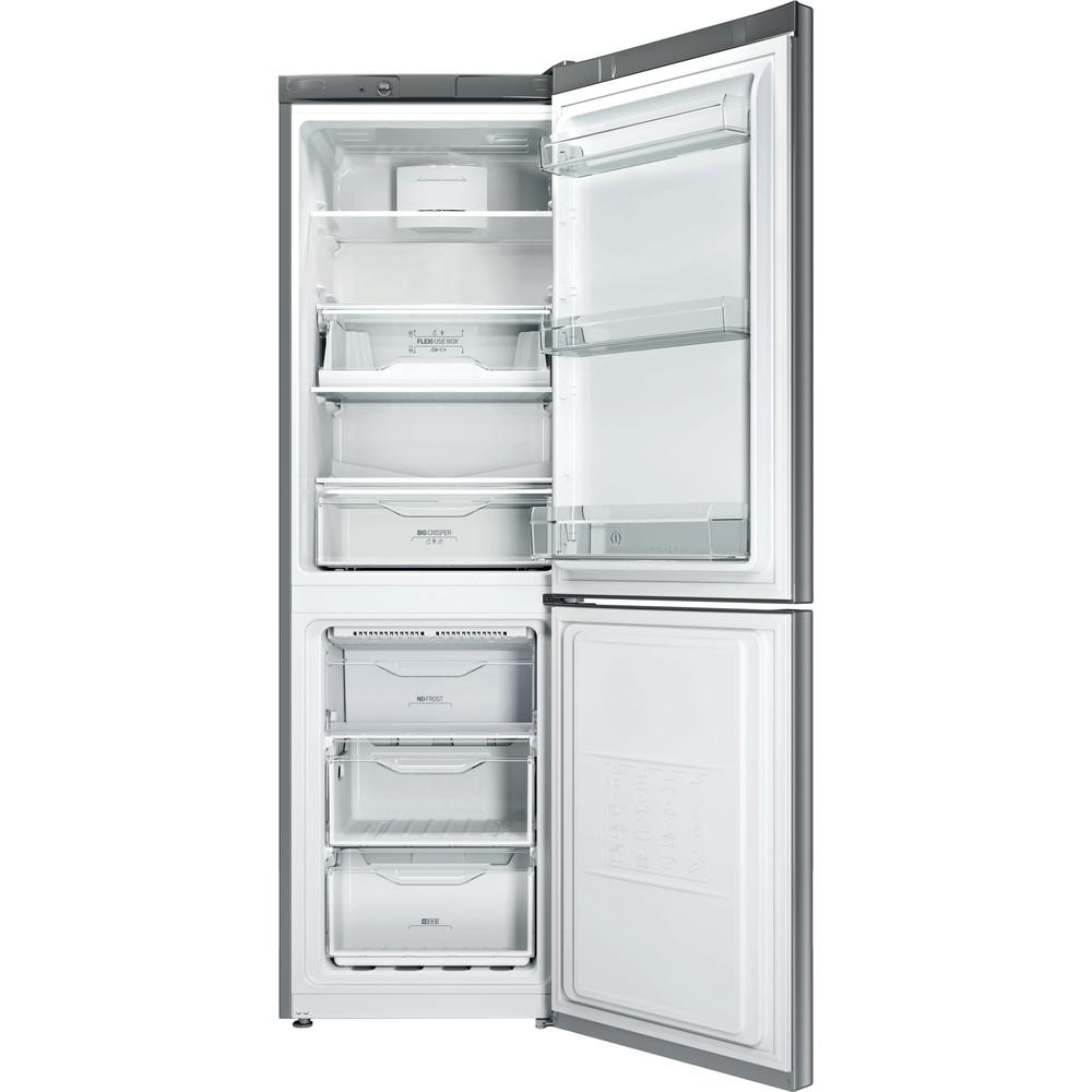 Indesit Combinazione Frigorifero/Congelatore A libera installazione LI80 FF1 X Inox 2 porte Frontal open