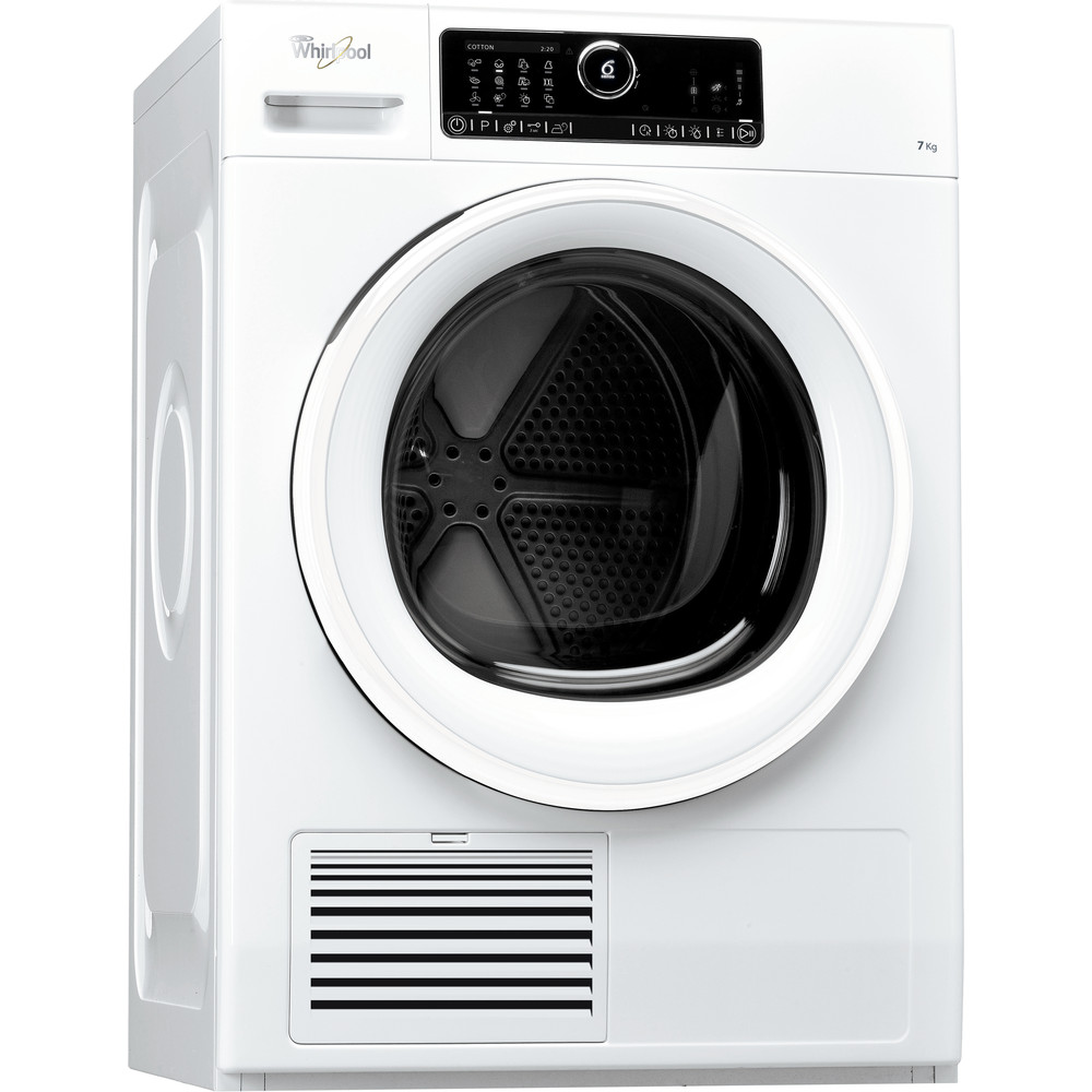 Whirlpool kondenstumlare: fristående, 7 kg - DSCX 70125