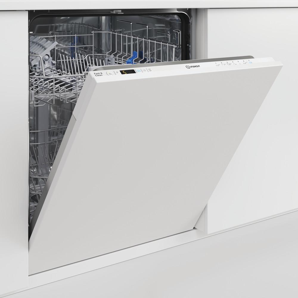 Indesit Lave-vaisselle Encastrable DIC 3B+16 A S Tout intégrable F Lifestyle perspective open
