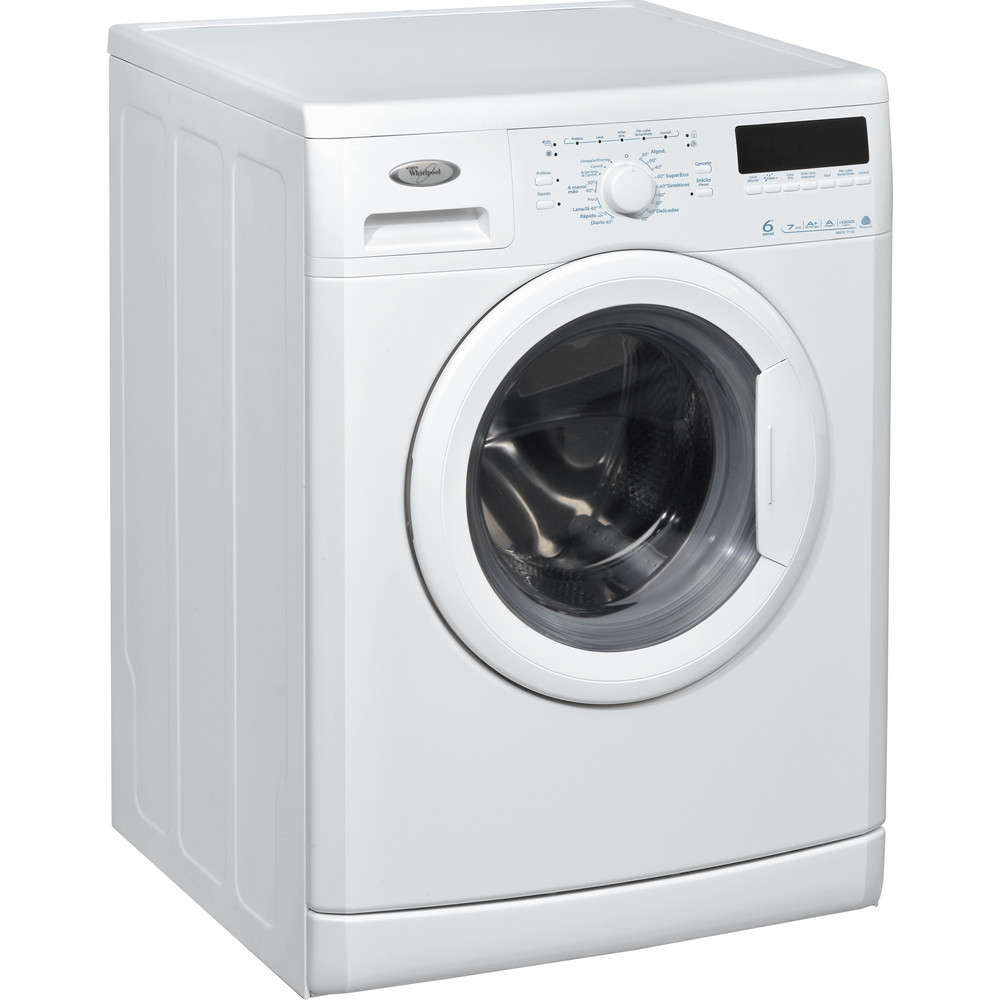 Lavadora carga frontal de libre instalación Whirlpool: 7kg - AWOC 7110