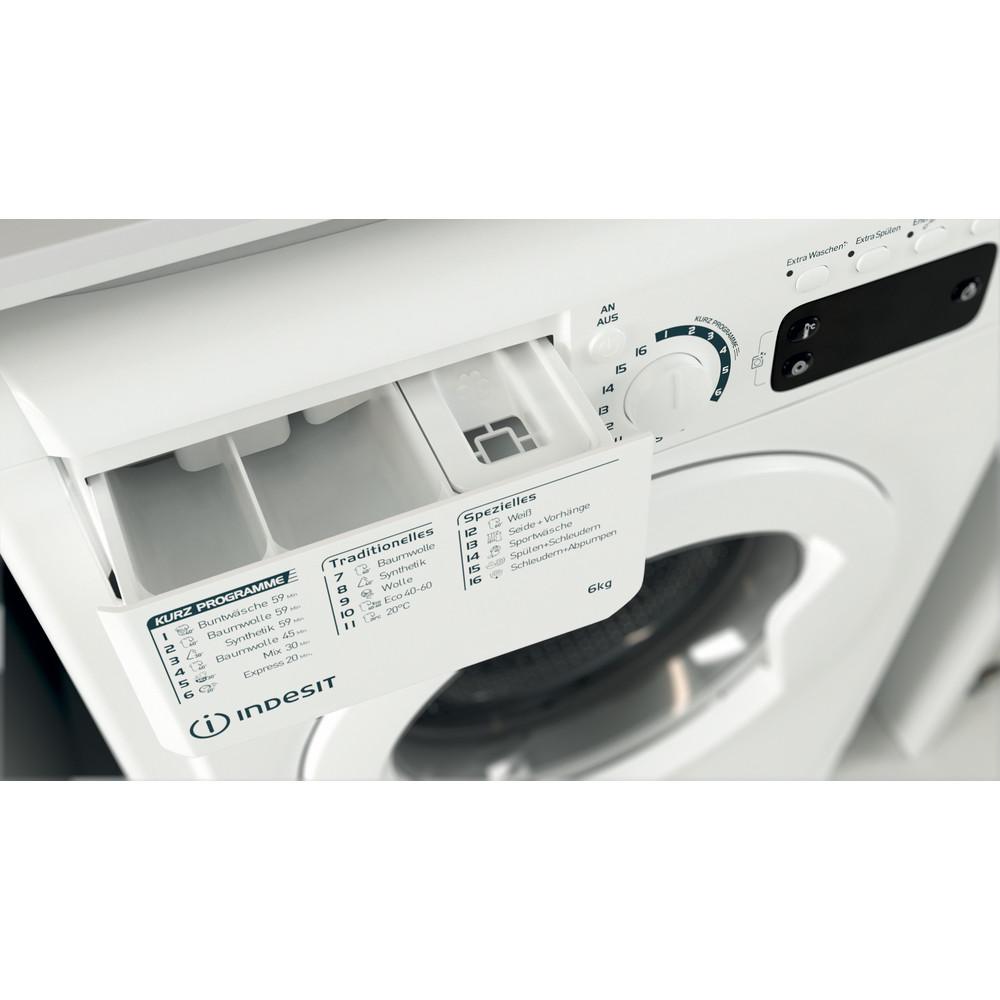 Indesit Waschmaschine Freistehend EWSE 61251 W DE N Weiß Frontlader F Drawer