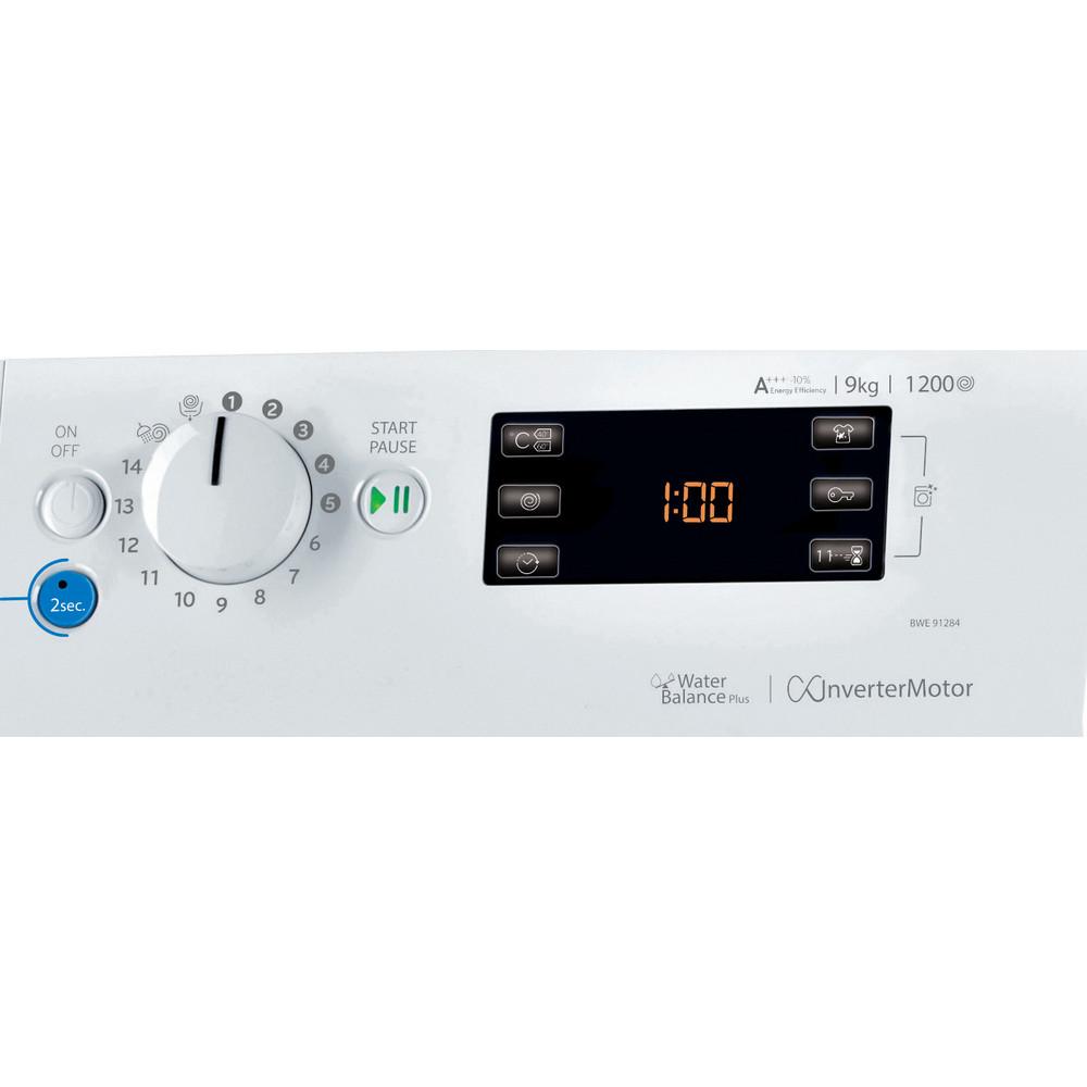 Indesit Pračka Volně stojící BWE 91284X WSSS EU Bílá Front loader A+++ Control panel