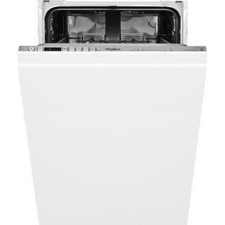 Whirlpool integrated dishwasher: inox color, slimline - WSIO 3T223 PCE X UK