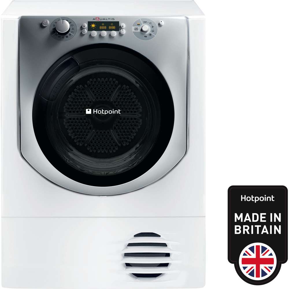Hotpoint Dryer AQC9 BF7 E1 (UK) White Frontal