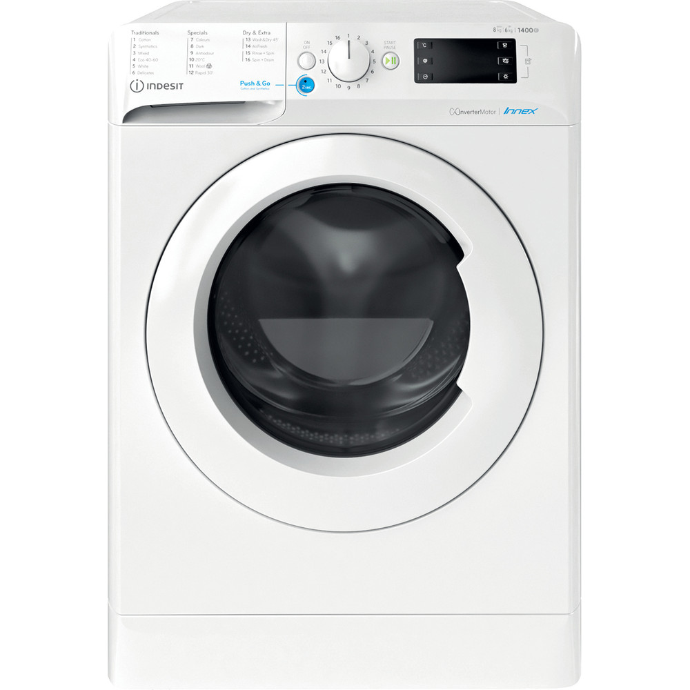 Indesit Washer dryer Free-standing BDE 861483X W UK N White Front loader Frontal