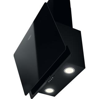 Whirlpool Tvaika nosūcējs Iebūvējams WHVP 65F LM K Melna Brīvi stāvošs Elektroniska Perspective
