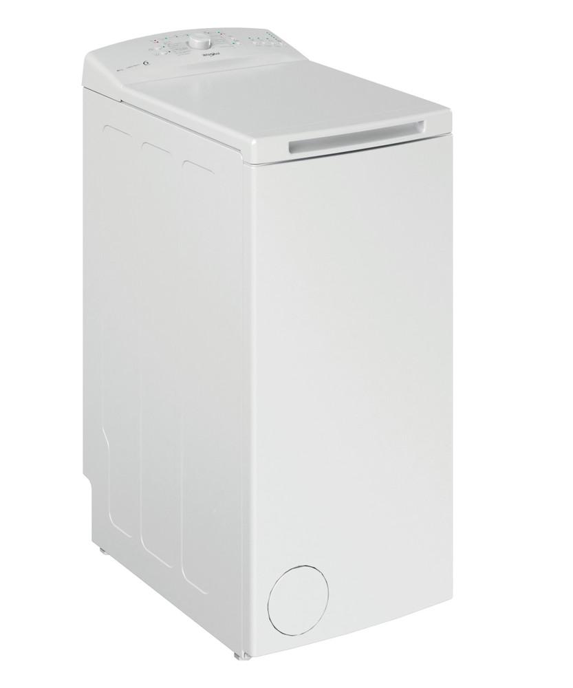 Whirlpool Pesukone Vapaasti sijoitettava TDLR 6030L EU/N Valkoinen Päältä täytettävä D Perspective