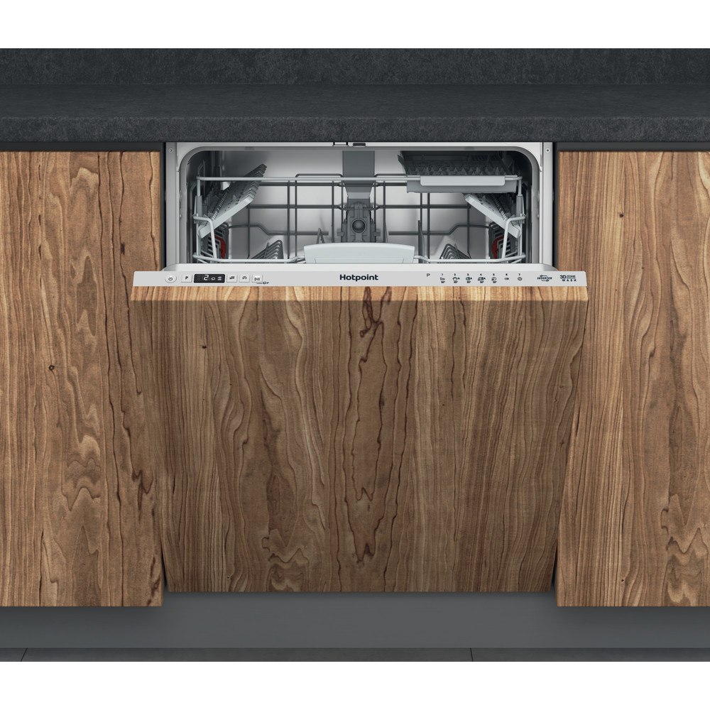 Hotpoint Dishwasher Built-in HDIC 3B+26 C W UK Full-integrated E Frontal