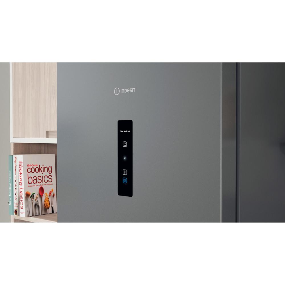 Indesit Холодильник с морозильной камерой Отдельностоящий ITD 5200 S Серебристый 2 doors Lifestyle control panel