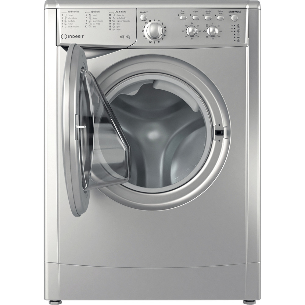 Indesit Washer dryer Free-standing IWDC 65125 S UK N Silver Front loader Frontal open