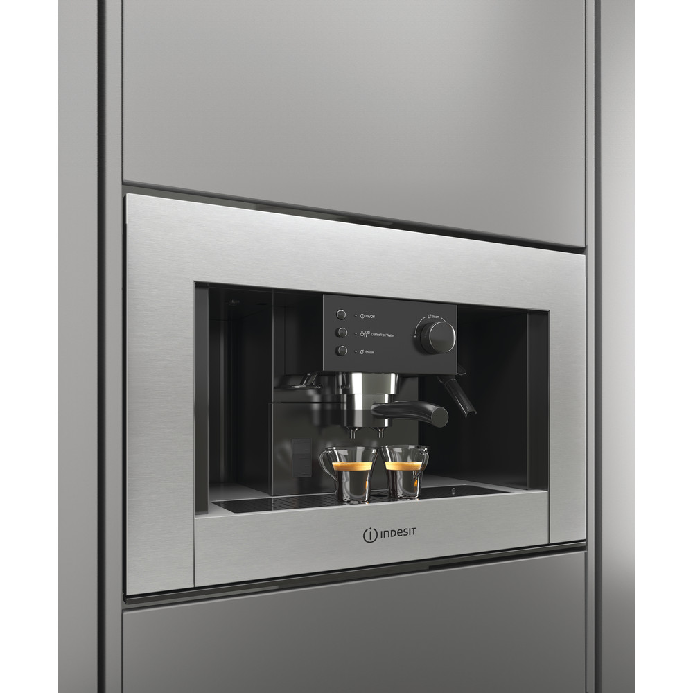 Indesit Built-in coffee machine CMI 5038 IX Inox Half automatic Lifestyle perspective