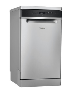 Lave-vaisselle Whirlpool: couleur inox, petite largeur - WSFO 3O23 PF X
