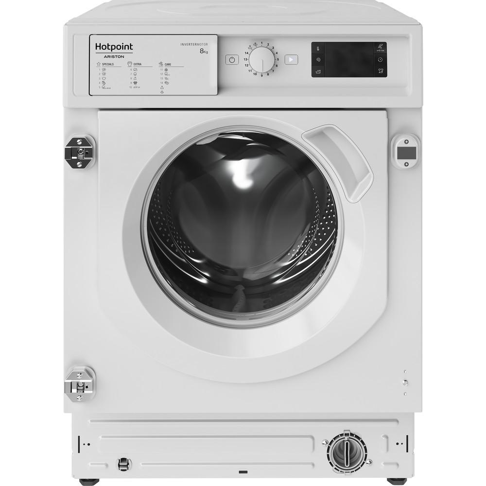 Hotpoint_Ariston Máquina de lavar roupa Encastre BI WMHG 81284 EU Branco Carga Frontal C Frontal