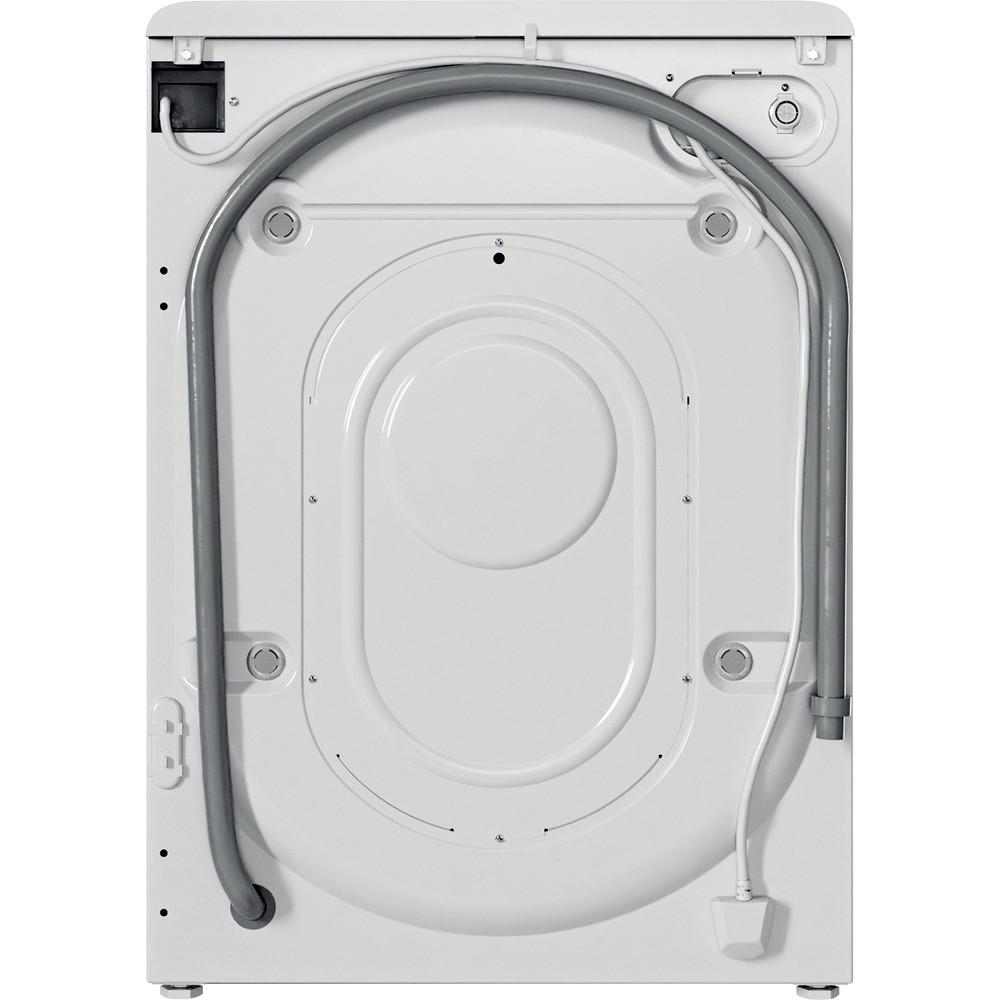 Indesit Washing machine Free-standing BWSC 61251 XW UK N White Front loader F Back / Lateral