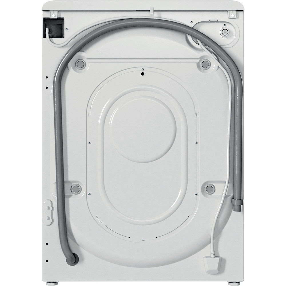 Indesit Washing machine Free-standing BWSC 61251 XW UK N White Front loader F Back / Lateral