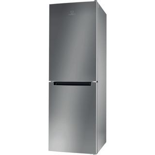Indesit Réfrigérateur combiné Pose-libre LI7 SN2E X Inox 2 portes Perspective