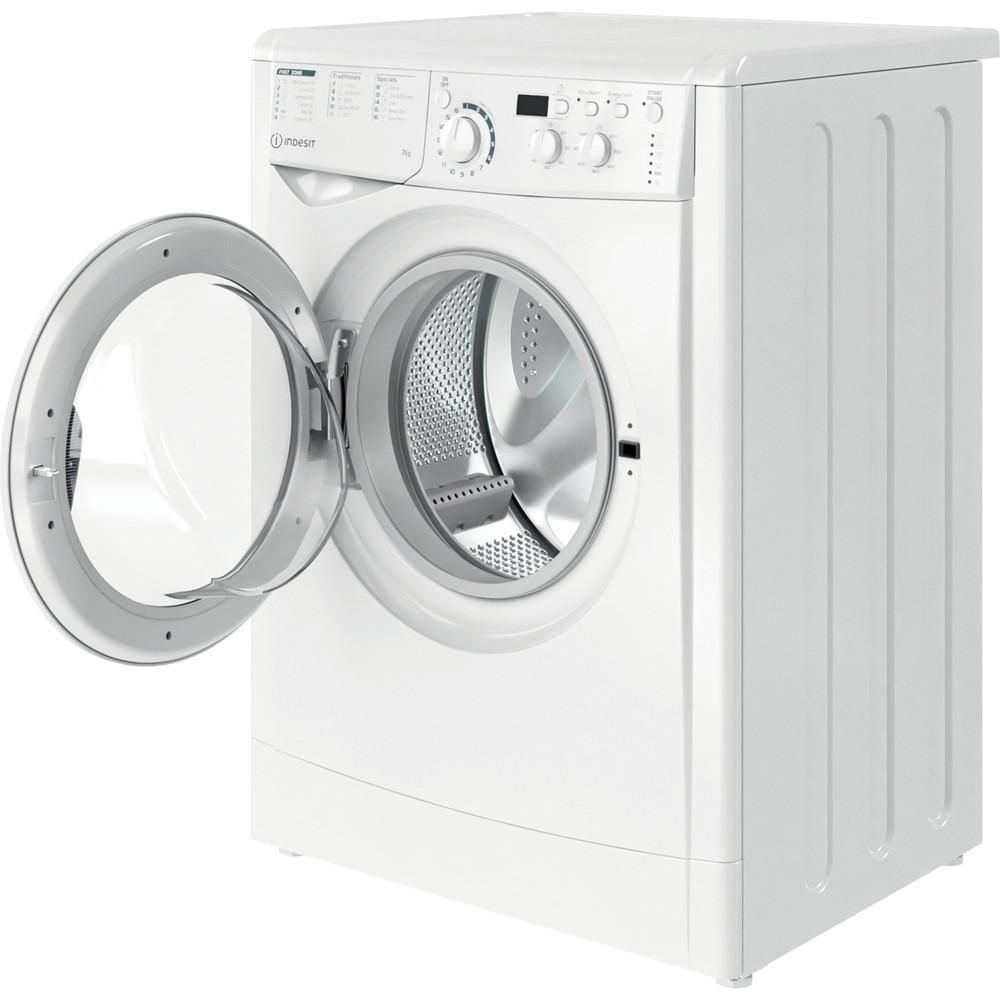 Indesit Wasmachine Vrijstaand EWD 71452 W EU N Wit Voorlader E Perspective open