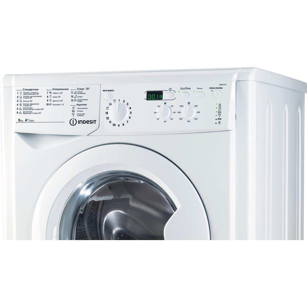 Indesit Стиральная машина Отдельностоящий IWSD 51051 CIS Белый Фронтальная загрузка A Control panel