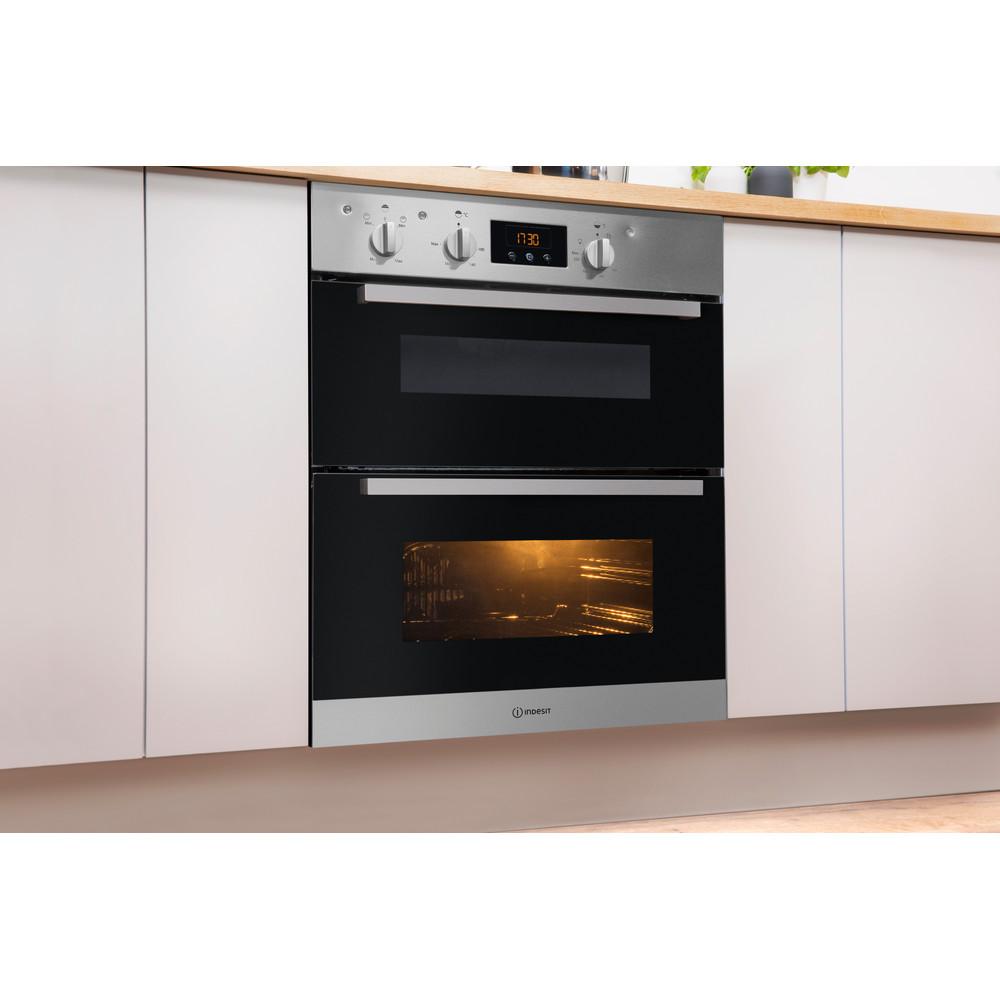 Indesit Double oven IDU 6340 IX Inox B Lifestyle perspective