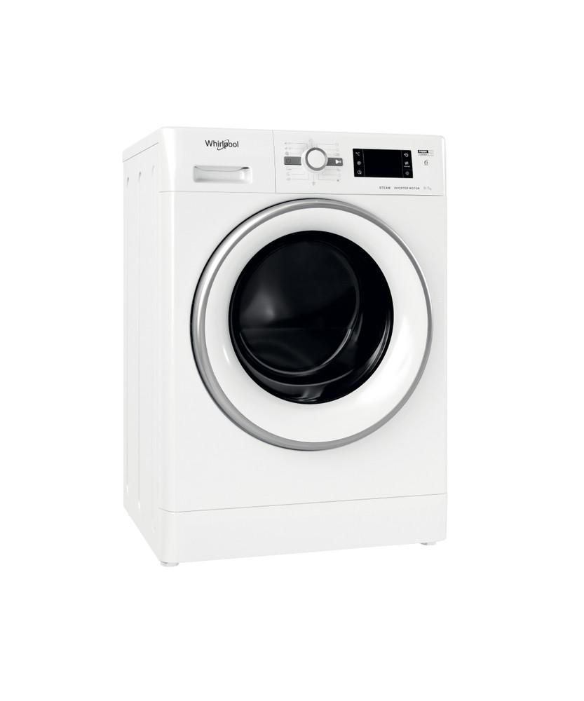 Whirlpool Washer dryer Samostojeća FWDG 971682E WSV EU N Bela Prednje punjenje Perspective