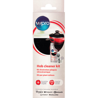 Kit vitrocéramique comprenant 1 crème nettoyante vitrocéramique 250 ml, 1 grattoir et 10 lames