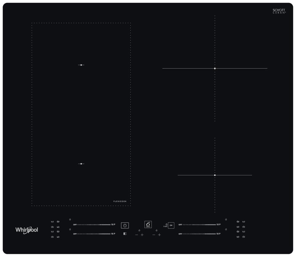 Whirlpool Kogeplade WL S7960 NE Sort Induction vitroceramic Frontal
