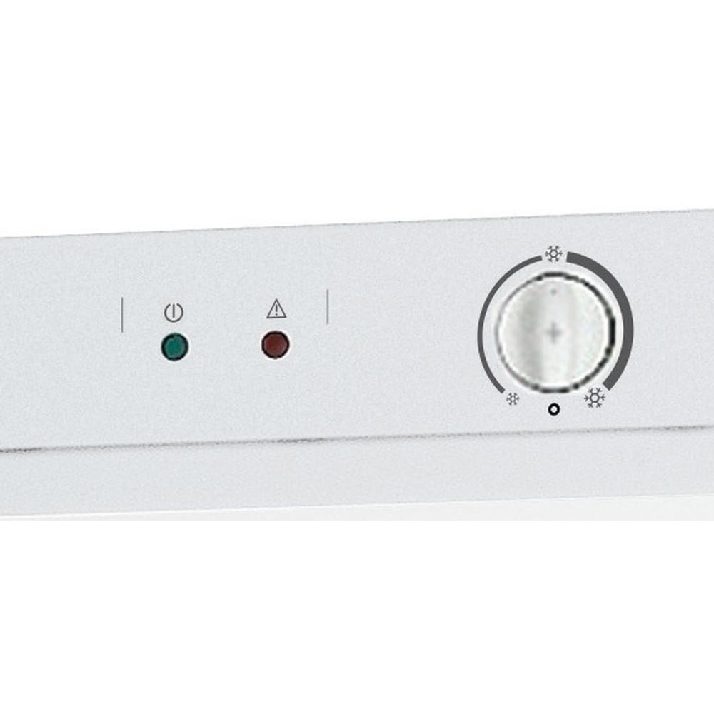 Indesit Zamrażarka Wolnostojące UI6 1 W.1 Biały Control panel