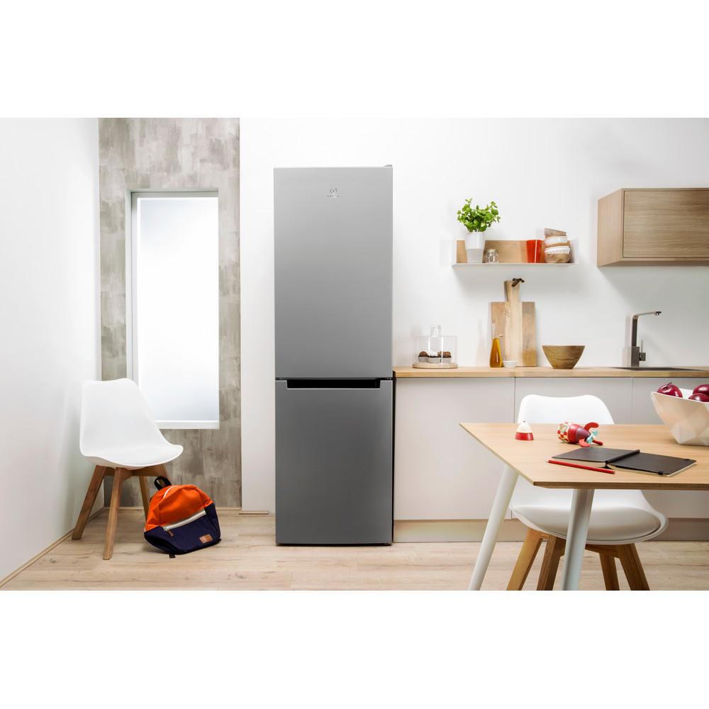 Indesit Холодильник с морозильной камерой Отдельно стоящий LI8 FF2 S Серебристый 2 doors Lifestyle frontal