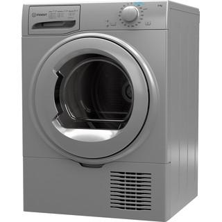 Indesit Dryer I2 D81S UK Silver Perspective