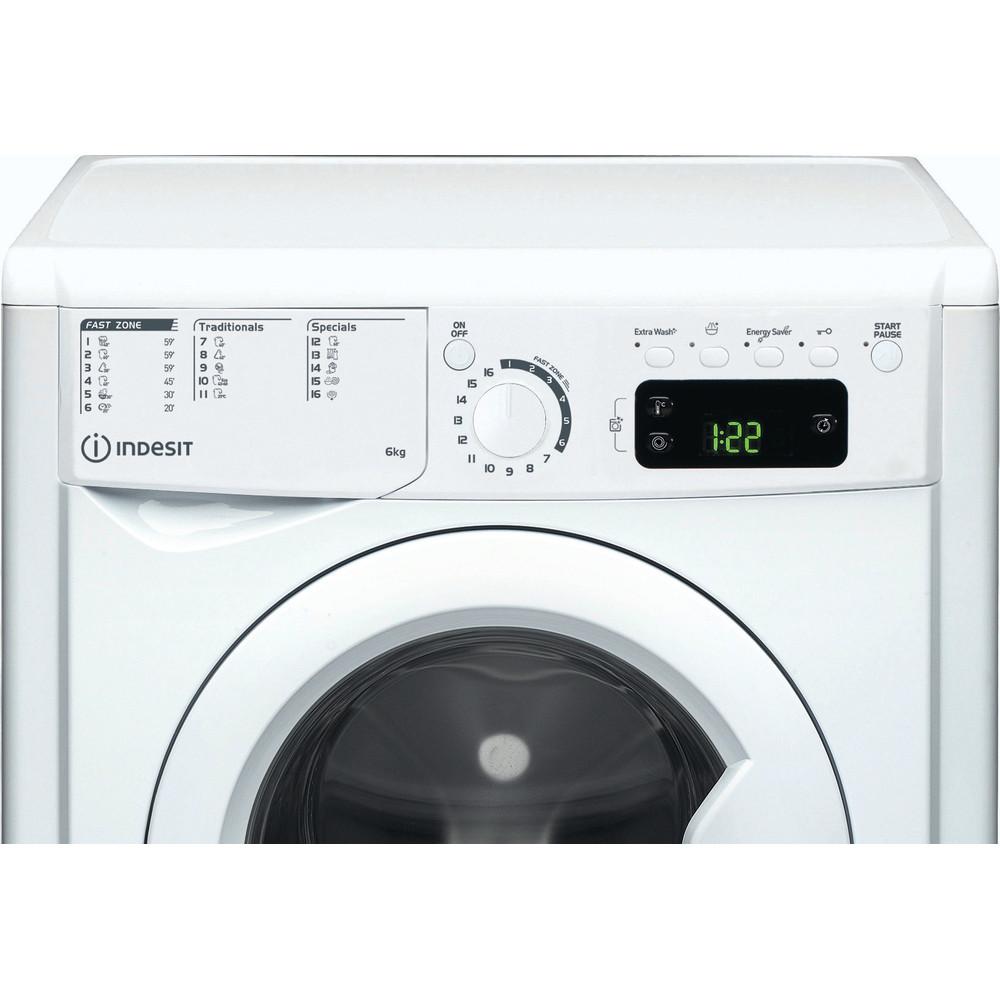 Indesit Waschmaschine Freistehend EWE 61251E W EU N Weiß Frontlader F Control panel