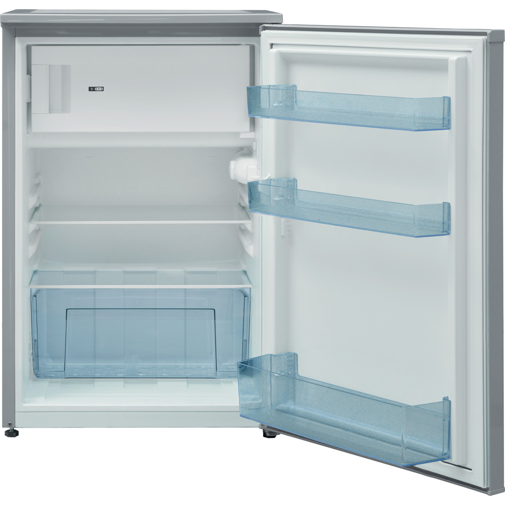 Indesit Refrigerator Free-standing I55VM 1110 S UK 1 Silver Frontal open