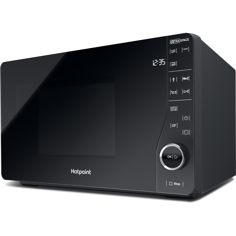 Hotpoint Microwave Free-standing MWH 2622 MB Black Electronic 25 MW+Grill function 800 Perspective
